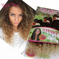 Noel Hediye Kanca 6 adet / grup Bir Kafa Için Ombre Renk Sentetik Saç Atkılar Jerry Curl Tığ Saç Uzantıları Tığ Örgüler Saç Örtüleri