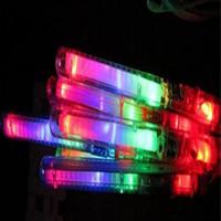Neue Multi bunte 7 Modi LED blinkt Nachtlicht-Lampen leuchten Zauberstab Sticks + Gurt Geburtstag Weihnachtsfest Festival Camp Freies Verschiffen DHL