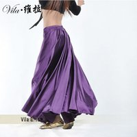 Satin Belly dance Skirt 2017 best selling Shining Swing dancing skirt Belly Dance skirt 14 colors available for lady VL-L001