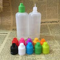 Капельницы бутылки 100мл ПЭ Пластиковые Neddle Пустой E Жидкость бутылки Нефть бутылки Childrenproof Cap тонкие длинные советы