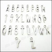 Großhandel Mix 520 stücke Vintage Charms Brief Anhänger Antike Silber Fit Armbänder Halskette DIY Metall Schmuck Machen