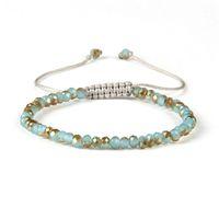 Nuovi monili di modo di estate di disegno all'ingrosso Colori della miscela 6mm Facted Crystal Jade Beads Macrame Braccialetti intrecciati economici
