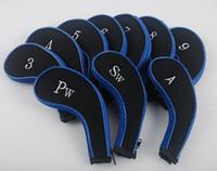 HISTAR Golf Uzun Boyun Neopren Dayanıklı Fermuarlı Fermuar Demir Kafa 3-SW Headcovers Kapakları (10 Paketi)