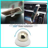 360 Rotary Magnet Soporte para coche para iPhone Accesorios GPS Cuna Kit para Samsung Soporte de pantalla Soporte magnético inteligente para teléfono móvil Soportes para coche