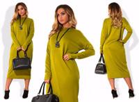 Sonbahar Kış Elbise Günlük Uzun Kollu Artı boyutu Elbise Büyük Büyük Beden Kadınlar Giyim vestidos