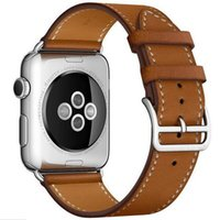 Fashion Genuine Leather Strap for iWatch Sports Stainless St...