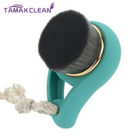 Bamboo Charcoal Facial Cleaning Brush Soft Hair Face Wash Br...