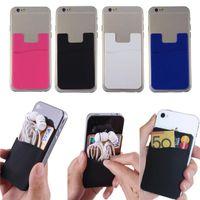20 pcs / lot Ultra-mince Carte Set Auto-Adhésif Carte de Crédit Portefeuille Titulaire de la Carte pour Smartphones pour iPhone X 8 8 PLUS Samsung S9 S9 plus