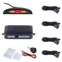 Voiture Auto Parktronic LED Parking Capteur Avec 4 Capteurs Inversée De Sauvegarde De Voiture Parking Radar Moniteur Détecteur Système Rétro-Éclairage