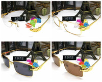 Leopard Sunglasses for Men Women Rimless Buffalo horn glasse...