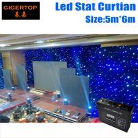 Freeshipping 5 M * 6 M led toile de fond d'étape de tissu étoile