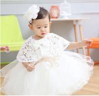 2016 bebek Vaftiz Elbisesi Beyaz Tül Bebek Prenses Vaftiz Elbise Yürüyor Bebek Kız Parti Gelinlik tutu elbise