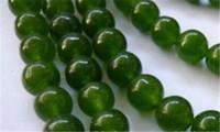 """10mm angepasst natürlichen Smaragd Edelstein runde lose Perlen 15"""" Strang Geschenk hinzugefügt"""