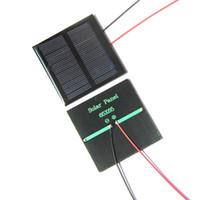De gros! 20pcs / lot de panneaux solaires 0.6W Mini solaire Cell 65x65mm Pour Small Power Applianc Toy Panle + 15CM câble Livraison gratuite