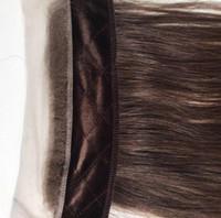 Echte menschliche haare stirnbänder braune farbe 4 beste haar zubehör freestyle unsichtbar iband spitze griff für jüdische Perücken koscher Perücken