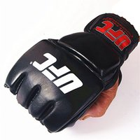MMA Boxing Gloves Half Finger Fight Fighting Boxing Glove Ad...