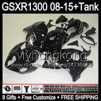 nero lucido 8gifts Per SUZUKI Hayabusa GSXR1300 08 15 GSXR-1300 14MY106 GSXR 1300 GSX R1300 08 09 10 11 12 13 14 15 Carenatura nero lucido Kit