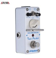 Free shipping AROMA ATP-3 Tube Pusher Valve Combo Simulator Electric Guitar Effect Pedal Mini Single Guitarra Effect Pedal with True Bypass