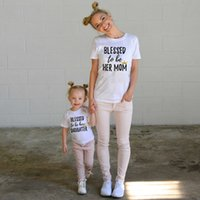 Printed letter Blessed to be Her Mom Daughter Family Matchin...