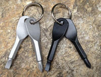 1200pcs Multifunctional Pocket Tool Outdoor EDC Gear With Slotted & Phillips Head Mini Screwdriver Set Key Rings Keychain