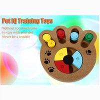 Wooden Paw Bone Shape Pet Treat Hiding IQ Training Funny Int...