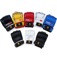 Adult Men Women Half Finger Mitts MMA Sanda Kickboxing WTF T...