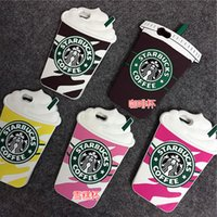 3D Cartoon Silicon Case Starbucks Cover For iPhone 6 6S 7 Pl...