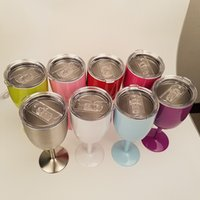 in stock 10 oz wine cups 9 colors wine glasses wine cooler stainless steel bottle tumbler true north by dhl free shipping