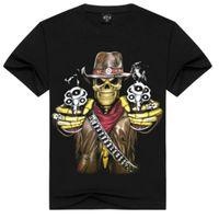 Magliette stampate 3D Marca Hip Hop Heavy Metal Streetwear T-shirt da uomo in cotone Casual maniche corte Top Tees