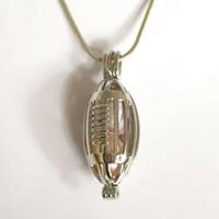 A gaiola do medalhão do rugby, pode guardarar o cristal de pérola múltiplo Jewel Gemstone Beads Flutuante Charms Pendant Fitting, acessório da jóia da forma de DIY