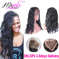 Peruvian virgin human hair body wave 360 lace frontals beaut...