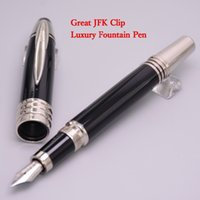 Luxury Stationery JOHN F. KENNEDY 18K Fountain Pen Black Res...