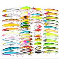 53 шт. / лот рыболовная приманка смешанные 7 моделей Bassbaits 53 цвет гольян приманка Crank приманки Mix рыболовные снасти