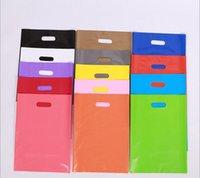 en ucuz!!! torba çoklu renk ambalaj baskılı LOGO giysiler için plastik alışveriş torbası / hediye plastik ambalaj torba (7)