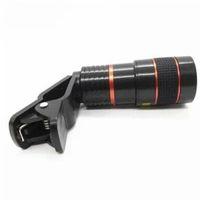 Objectif de caméra de télescope de téléphone intelligent de zoom optique 8X universel avec accessoires amovibles de photographie de téléphone portable