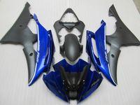 Injectie Molding Fairing Kit voor Yamaha YZF R6 08 09-15 Zwart Blue Backings Set YZFR6 2008-2015 OT01