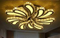 Salon parıltı plafonnier için yeni tasarım Led Kristal Tavan Işıklar moderne kristal Tavan Lambaları Home For Dekorasyon LLFA açtı