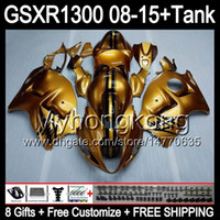 8Gifts voor Suzuki Hayabusa GSXR1300 08 15 GSXR-1300 14MY16 GLOSS GOLDEN GSXR 1300 GSX R1300 08 09 10 11 12 13 14 15 Verkrijgen Top Golden Kit
