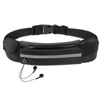 Sac de taille en cours d'exécution étanche support de téléphone portable jogging ceinture sac de ventre femmes gym sac de sport dame accessoires de sport