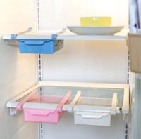 1 PZ Nuovo Creativo Scatole di Immagazzinaggio Frigorifero in plastica Rack di stoccaggio Frigorifero Freezer Supporto per mensole Cassetto estraibile Organizer KX 321
