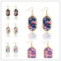Hot Kite Earring, Durzy China set flower, Gold Plated Geomet...