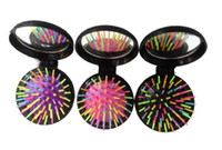 Rainbow Folded Touring Hair Brush Round Multi Color Magic De...
