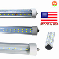 Stock In US + Double Rows 72W 8 feet t8 led tubes single pin ...