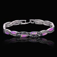 Hurtownia Detaliczna Moda Fine Fire Opal Bransoletka 925 Sterling Sliver Biżuteria dla kobiet BNT170824001