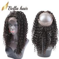 360 Frontal Frontal Brasileño Virgen Pelo 22 * 4 * 2 Cierre de encaje Frontals Closurs Banda de encaje Cierre Bella Hair