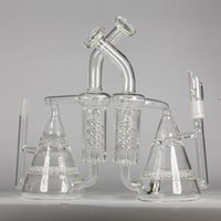 Glass Water Bongs Oils Rig 14. 4mm Joint Bong Honeycomb Turbi...