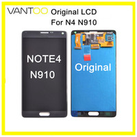 Per Samsung Galaxy Note4 N910 Display LCD originale con Touch Screen Digitizer Assembly Repair Parti di ricambio DHL gratuito
