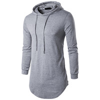 Tops tees Hot sell 2017 hooded zipper long section autumn me...
