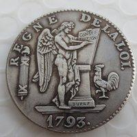 1793 // LAN IIA SILVER FRANKRIKE 6 Livres (ecu) Angel Coin Brass Craft Ornaments Replica Coins Heminredning Tillbehör