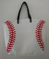 wholesale 2pcs Baseball Tote Bags Sports Bags Casual Tote So...